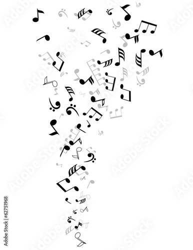 vector musical notes - 62751968