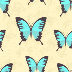 Colorful butterfly vector background