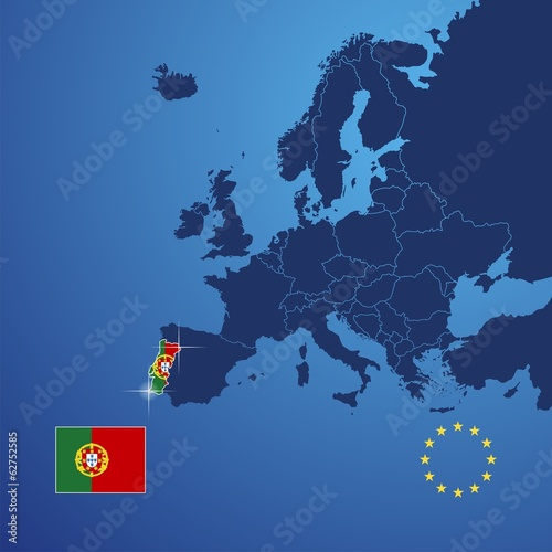 Portugal map cover vector