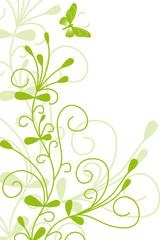 floral,frühling,abstrakt,grün,hellgrün,silhouette,blatt
