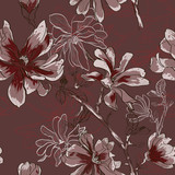 floral seamless pattern with flowers - 62752904