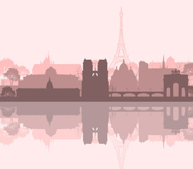 Paris France city skyline