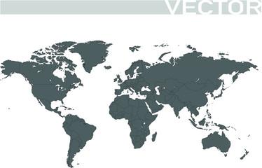 Weltkarte grau