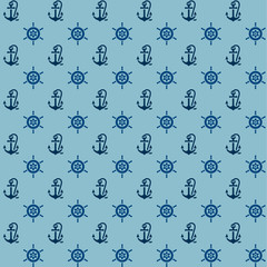 Seamless patterns, anchors and steering wheel