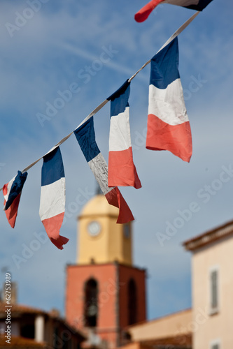 French flags in Saint Tropez