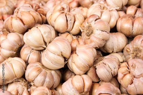 garlic for cooking  texture background