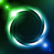 Shiny Dark Round Background Green Blue. Vector EPS10