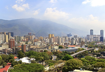 Skyline of Caracas city. Capital of Venezuela