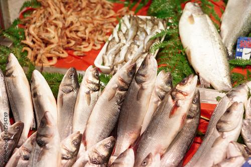 Street fish market in Istanbul