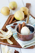 Poached Pear prep - shallow dof