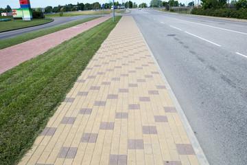 brick paved sideway