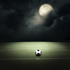 soccer field at the moon light