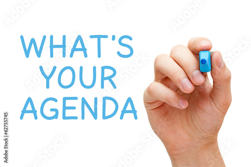 What is Your Agenda