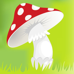 Cartoon red mushroom
