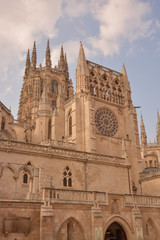 Fachada lateral catedral de Burgos (Camino de Santiago)