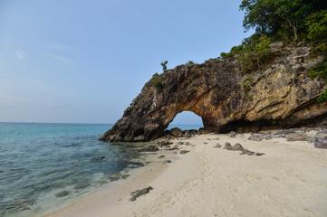 Natural rock bridge, Lipe island. Koh kai