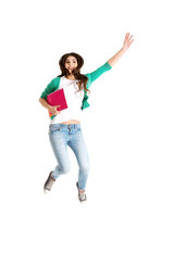 Jumping college / university student