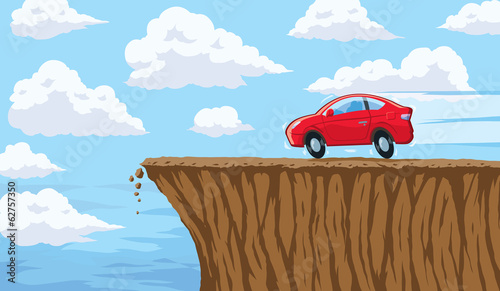 Going over a cliff