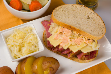 St Patricks Day Reuben Sandwich