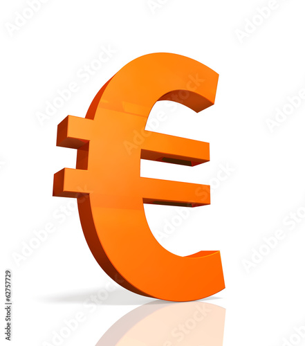 Icon of currency symbol of the Euro