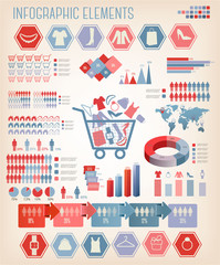 Shopping infographics. Vector.