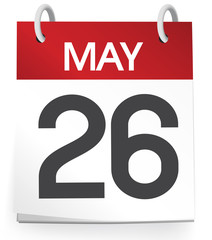 Calendar of 26th of May Vector