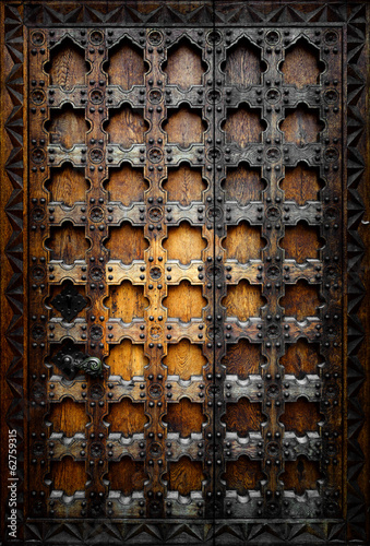 Old wooden door - 62759315
