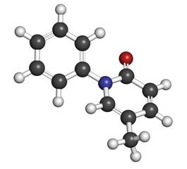 Pirfenidone idiopathic pulmonary fibrosis (IPF) drug molecule.