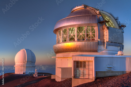 Tuinposter Ruimtelijk Gemini telescopes, Mauna Kea Hawaii