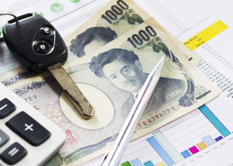 Financial business with Japan currency trade