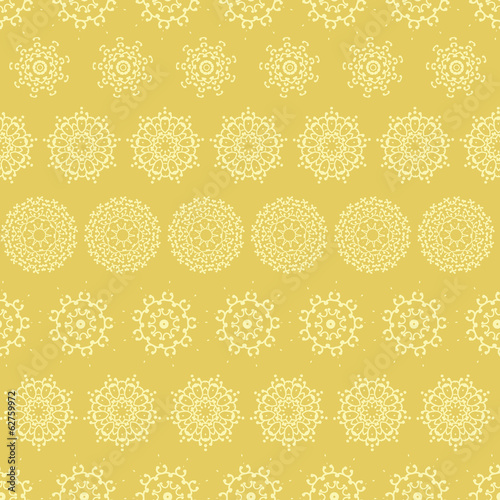 vector yellow mustard abstract mandalas striped seamless pattern