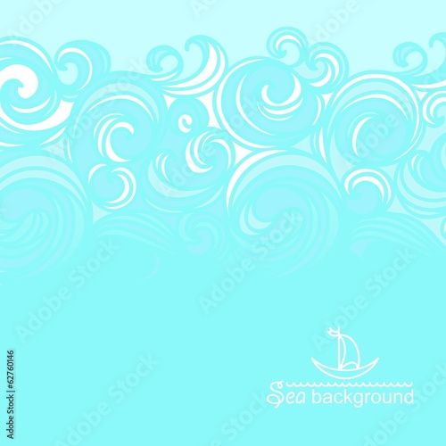 Sea background with sea waves