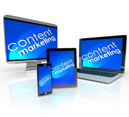Content Marketing Digital Devices Computer Smart Phone Laptop Ta