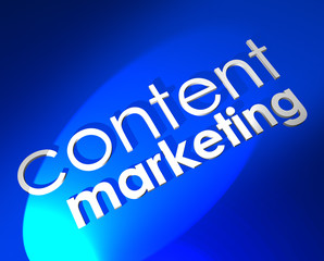 Content Marketing Blue 3D Word Background Digital Customer Outre