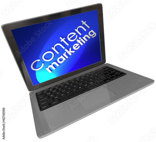 Content Marketing Laptop Computer Online Digital Customer Outrea