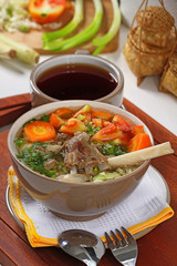 sop kambing, Indonesian meat lamb soup