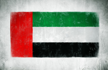 Painting Of The National Flag Of The United Arab Emirates