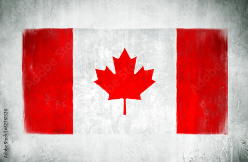 Painting Of The National Flag Of Canada