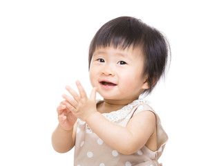 Baby clapping hand