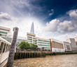 London skyline along river Thames