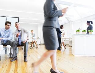 Business Men Harassing Female Colleague