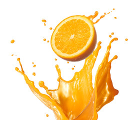 splashing orange juice