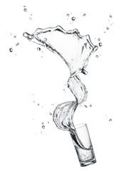 splashing drinking water