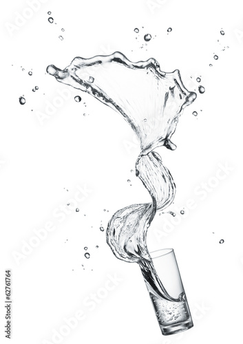 splashing drinking water