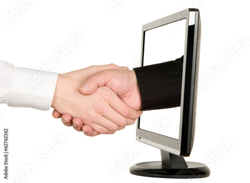 Hands shaking, LCD monitor