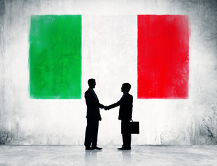 Businessmen Shaking Hands in Italy
