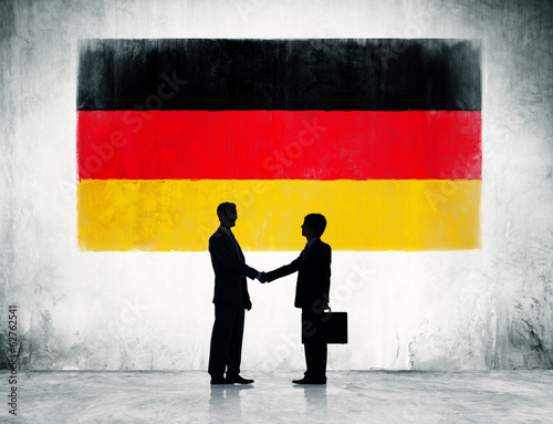 Businessmen Shaking Hands in Germany