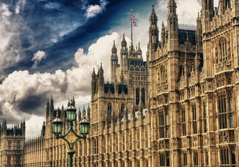 Houses of Parliament, Westminster Palace, London gothic architec