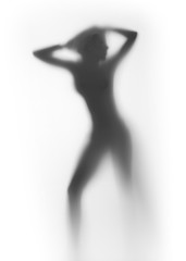 Sexy, slim woman body silhouette