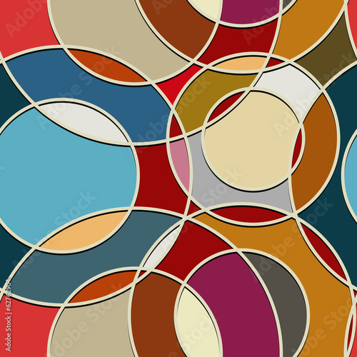 Seamless color texture of circular items